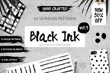 50% Off 60 Seamless Ink Patterns Set