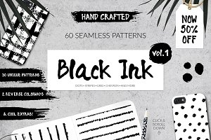 50% Off 60 Seamless Ink Patterns Set