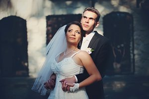 Sun shines over newlyweds faces