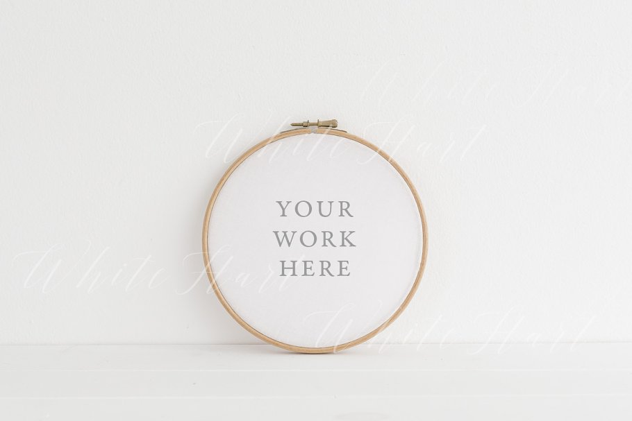 Minimal Embroidery hoop mock up