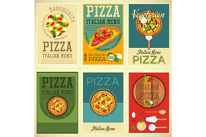 Italian Pizza Posters Set
