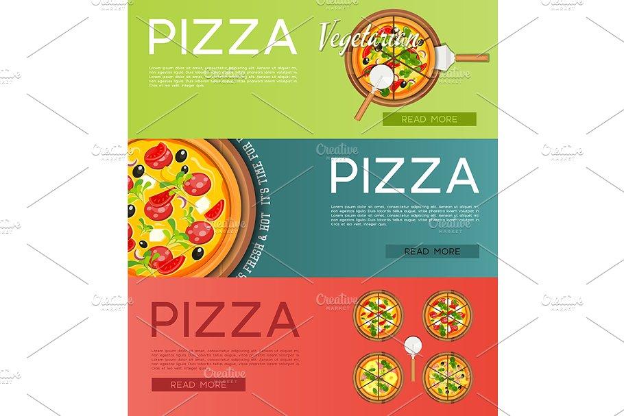 Italian Pizza Banners Set
