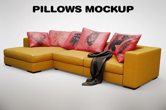 Sofa Pillow MockUp