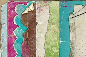 Grunge-fitti {two - worn papers}