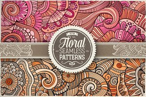 Floral Ethnic Seamless Patterns