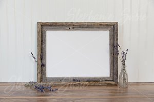 Barnwood Frame and Lavender Mock Up