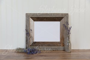 Barn Wood Frame and Lavender Mock Up