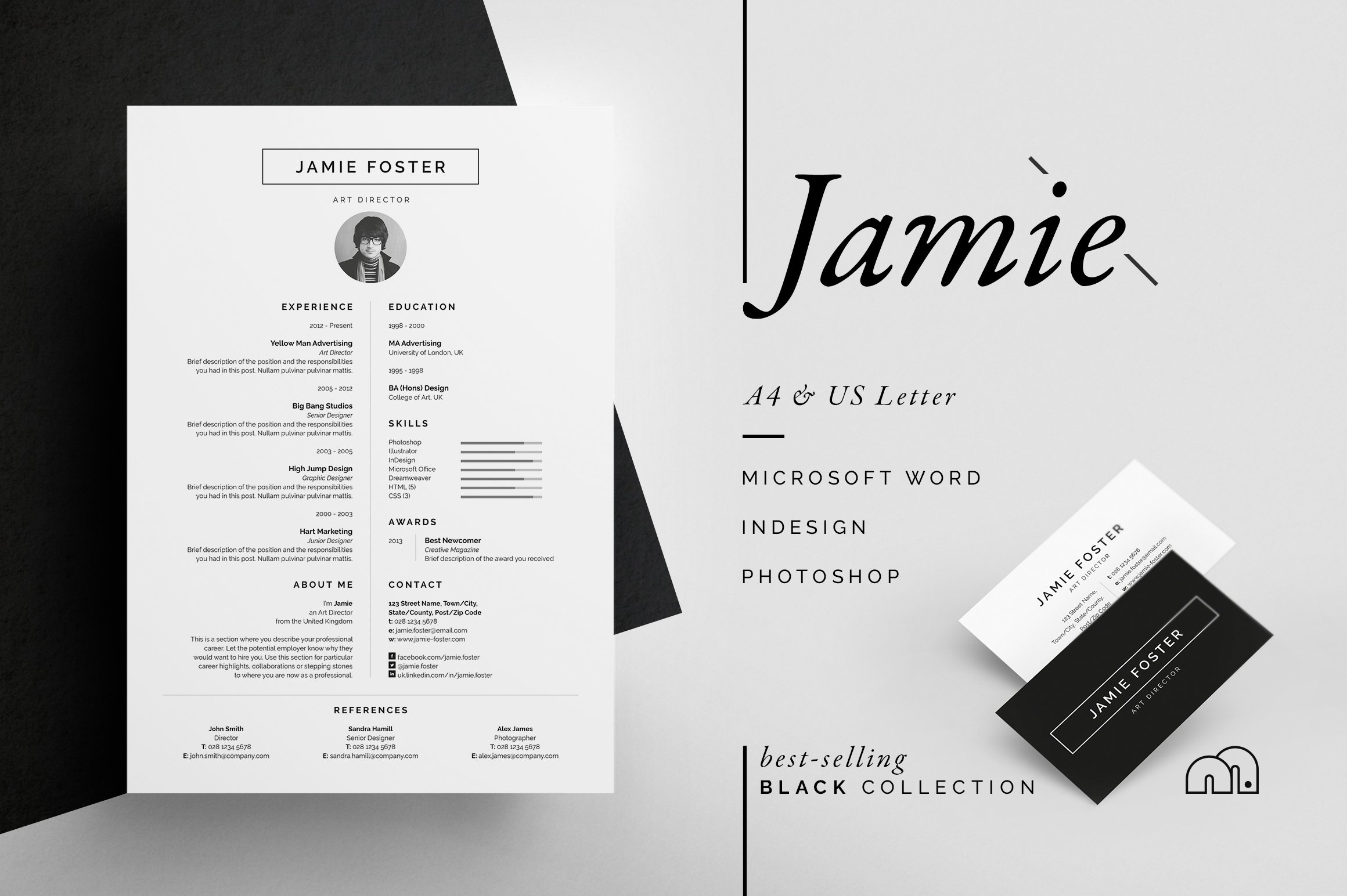 Resume 101  Creative Ways To Get Your Resume Noticed  Creative Market Blog Different Types Of Resumes Excel with Waitress Resume Skills Excel Resumecv  Jamie Military Resume Example