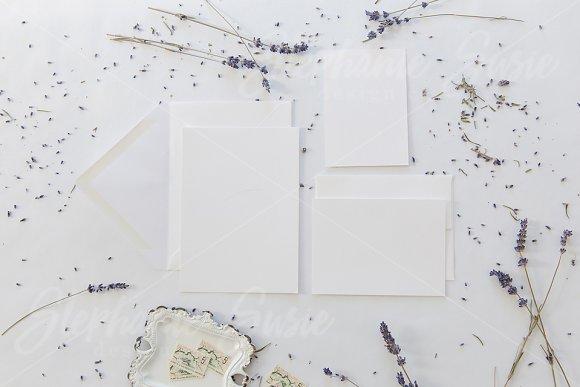 Free White and Lavender Invitation Mock