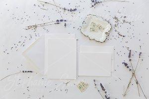 White and Lavender Invitation Mock