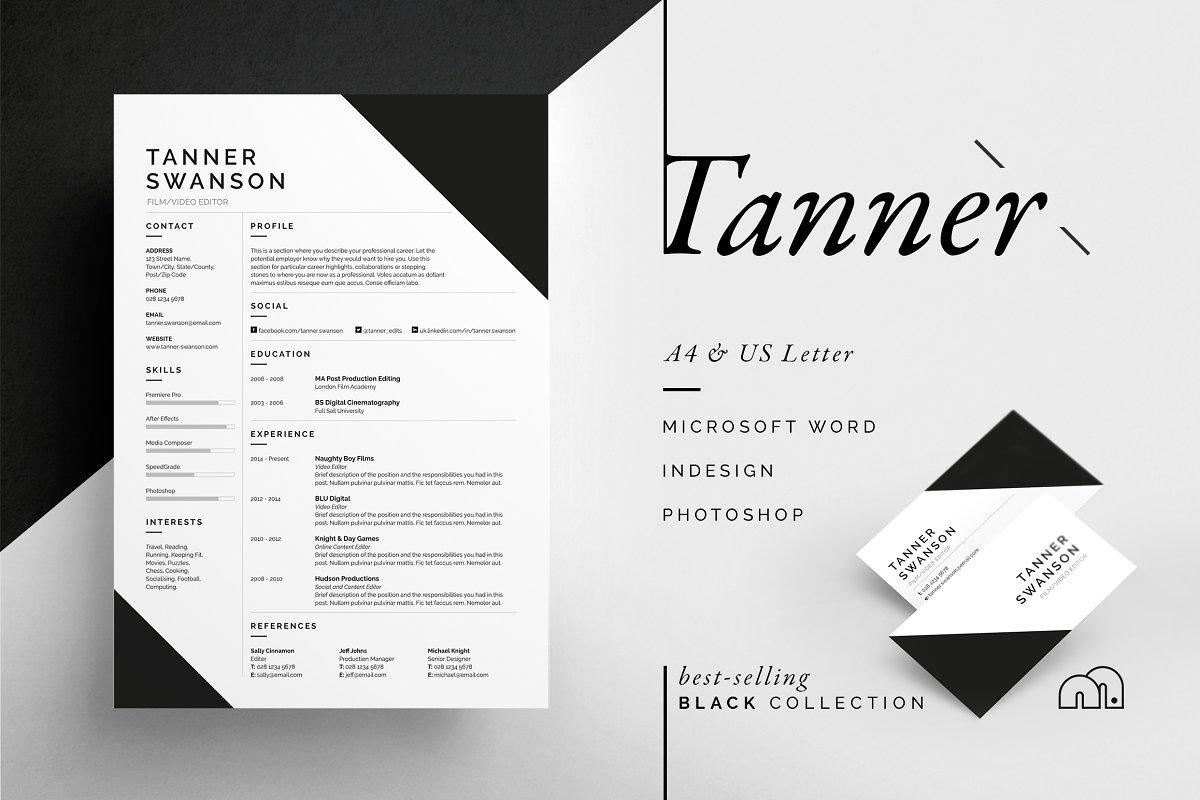 Resume/CV - Tanner
