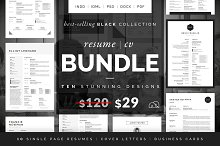 Resume/CV Bundle - Black Collection