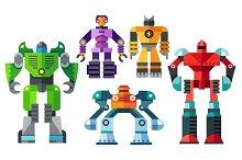 Vector Flat Modern Robots