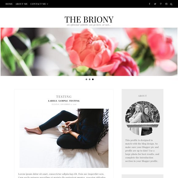 Briony Blogger Template