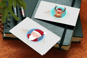 Christmas flat icons illustrated