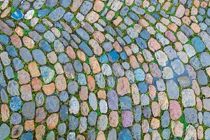 Old cobblestone pavement
