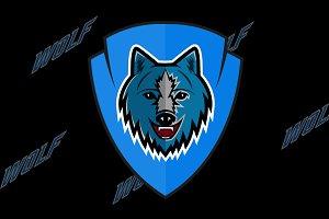 Wolf logo team sport