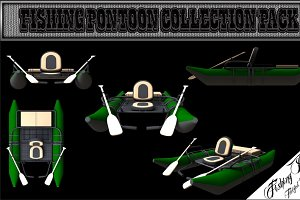 3D Fishing Pontoon