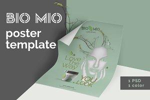 Bio Mio Poster Template