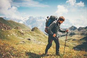 Traveler Man mountaineering