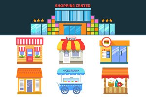 Shops and trade. Shopping Center