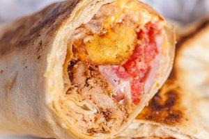 Burrito close up