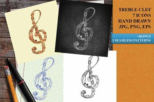 Treble clef drawing