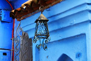 Lantern in Chefchaouen, Morocco