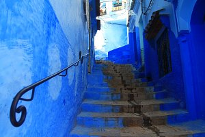 Stairs in Chefchaouen, Morocco