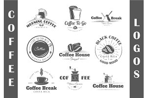 9 Coffee Logos Templates Vol.1