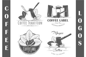 4 Coffee Logos Templates Vol.2