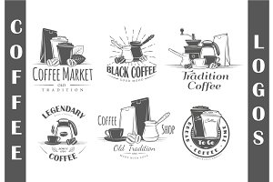 6 Coffee Logos Templates Vol.3