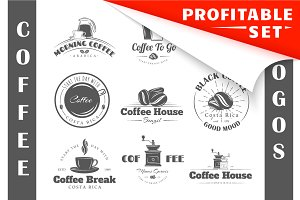19 Coffee Logos Templates