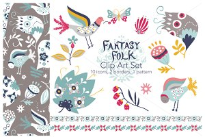 Fantasy Folk - Vector Clip Art Set