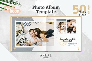 Photo Album Template - Grey
