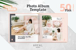 Photo Album Template - Pink