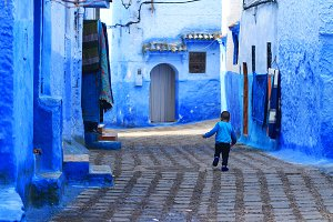 Little boy from Chefchaouene,Morocco