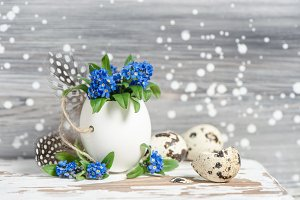 Easter decoration forget me not
