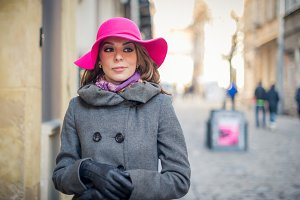 the girl with the hat