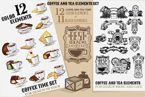 COFFEE AND TEA ELEMENTS SET