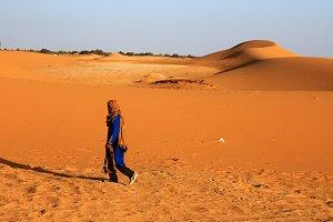 Bedouin Man in Sahara, Morocco