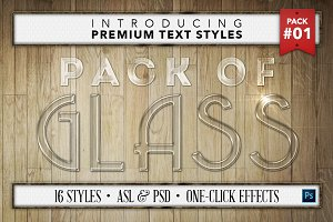 Glass #1 - 16 Text Styles