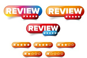 Review web button set