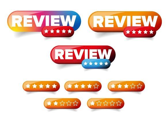 Review Web Button Set