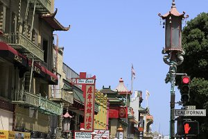The streets of China town.