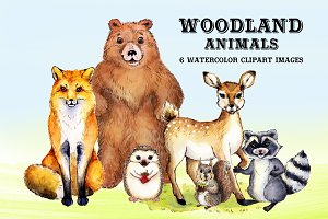 Watercolor Woodland Animals #2