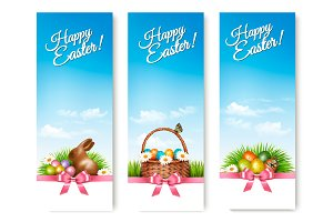 Happy Easter banners