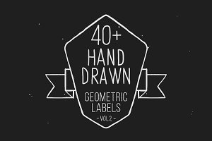 Hand drawn geometric labels VOL.2