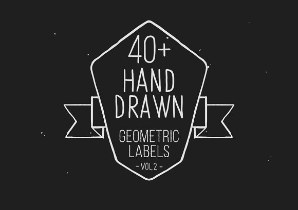 Hand drawn geometric labels VOL.2 - Objects