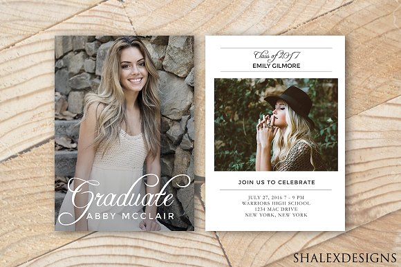 Graduation Announcement Template Flyer Templates on Creative Market – Graduation Announcement Template
